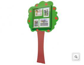 Gablota szkolna drzewko