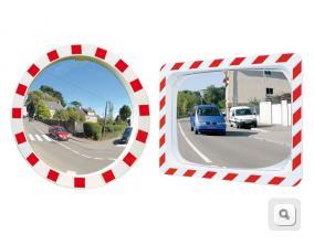 Lustra drogowe jakość POLYMIR, lustra drogowe okrągłe, lustra drogowe kwadratowe