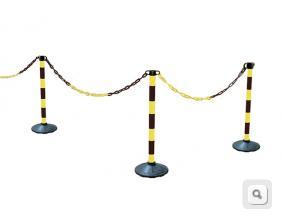 Słupki plastikowe żółto-czarne