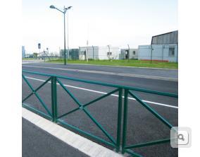 Bariera z porecza Lizbona, bariera stalowa malowana, bariery na drogi, barierki ochronne