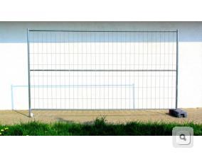 Brama budowlana stalowa jednoskrzydłowa, ogrodzenie ażurowe tymczasowe
