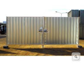 Brama pełna trapezowa z ryglem, brama tymczasowa stalowa