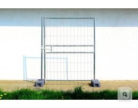 Furtka ażurowa stalowa z siatką, ogrodzenie budowlane tymczasowe