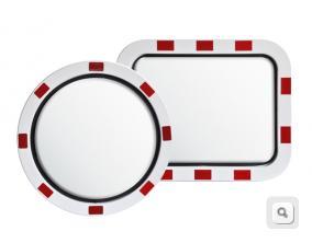 lustra drogowe ze stali nierdzewnej, lustra nietłukące, lustra drogowe U18a, U18b