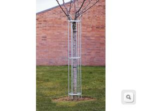 stalowa osłona drzewa krzwewy