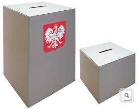 urny wyborcze do glosowania, urna z godlo, urna na glosy, urna na wybory z godlo