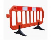 Bariera Gate pomarańczowa, bariera na roboty budowlane, drogowe, remontowe