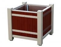 donice drewniane stalowa konstrukcja