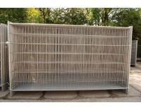 Ogrodzenie z siatki stalowej, wygrodzenie placów budowy