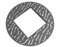okrągłe kratownice rzeźbione stalowe