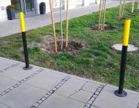 Słupek miejski żółto-czarny