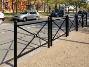 bariery miejskie, barierki drogowe
